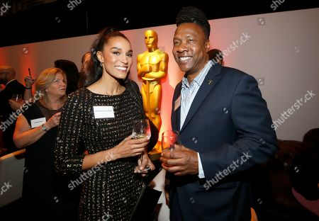 Brooklyn Sudano, Roger Ross Williams. Brooklyn Sudano, left, and Roger Ross Williams attend the 92nd Academy Awards Nominees Luncheon at the Loews Hotel, in Los Angeles