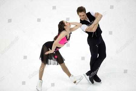 Caroline Green, Michael Parsons. Caroline Green and Michael Parsons compete in the senior rhythm dance short program at the U.S. Figure Skating Championships, in Greensboro, N.C