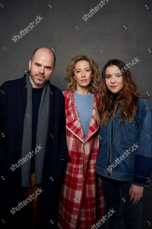 "Stock Photo of Sean Durkin, Carrie Coon, Oona Roche. Writer/director Sean Durkin, from left, Carrie Coon, and Oona Roche pose for a portrait to promote the film ""The Nest"" at the Music Lodge during the Sundance Film Festival, in Park City, Utah"