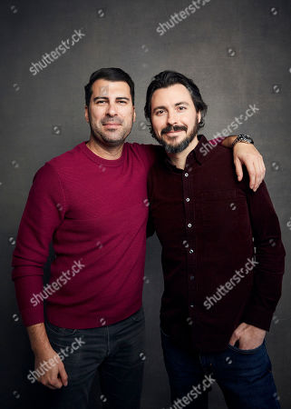 """James Lee Hernandez, Brian Lazarte. James Lee Hernandez, left, and Brian Lazarte pose for a portrait to promote the film """"McMillions"""" at the Music Lodge during the Sundance Film Festival, in Park City, Utah"""