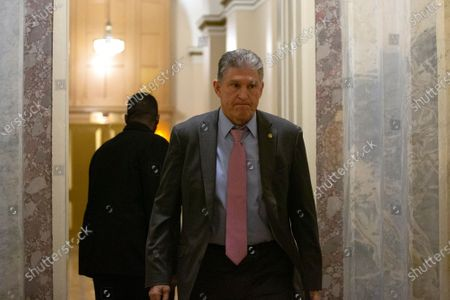 United States Senator Joe Manchin III (Democrat of West Virginia) departs the United States Capitol after the conclusion of day six in the impeachment trial of United States President Donald J. Trump