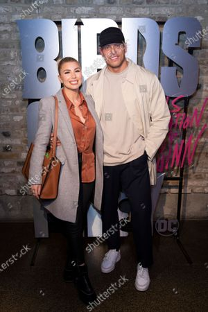 Olivia Buckland and Alex Bowen attend the launch of Harley Quinn's Roller Disco to celebrate the upcoming film. Tickets are still available for the public via Event Brite. Birds of Prey (and The Fantabulous Emancipation of One Harley Quinn) in cinemas February 7th.