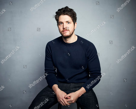"""Stock Photo of Philip Ettinger poses for a portrait to promote the film """"The Evening Hour"""" at the Music Lodge during the Sundance Film Festival, in Park City, Utah"""