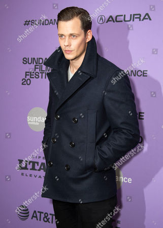 """Bill Skarsgard attends the premiere of """"Nine Days"""" at the Eccles Theatre during the 2020 Sundance Film Festival, in Park City, Utah"""