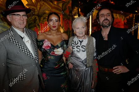 Stock Image of Joe Corre, Coree Cora, Vivienne Westwood, and Andreas Kronthaler