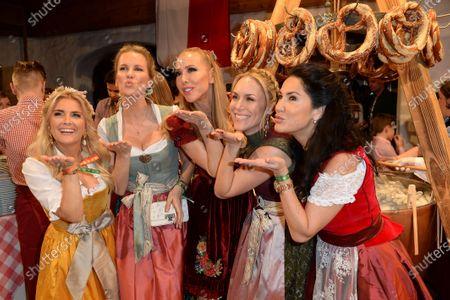 Stock Photo of Jennifer Knäble, Monica Ivancan, Kathi Worndl, Celia Reichert and Mariella Ahrens