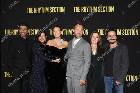 Raza Jaffrey, Reed Morano (Director), Blake Lively, Jude Law, Barbara Broccoli (Producer) and Max Casella