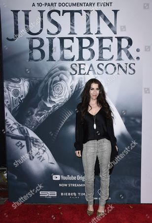 "Pattie Mallette arrives at the Los Angeles premiere of ""Justin Bieber: Seasons"" on"