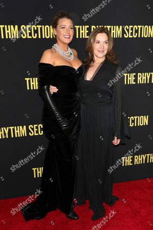 "Blake Lively, Barbara Broccoli. Blake Lively, left, and Barbara Broccoli attend a special screening of Paramount Pictures' ""The Rhythm Section"" at the Brooklyn Academy of Music, in New York"