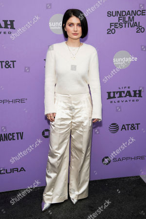 """Eve Hewson attends the premiere of """"Tesla,"""" at the Library Center Theatre during the 2020 Sundance Film Festival, in Park City, Utah"""