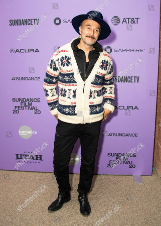 "Stock Image of Carlos Leal attends the premiere of ""The Last Thing He Wanted"" at the Eccles Theatre during the 2020 Sundance Film Festival, in Park City, Utah"