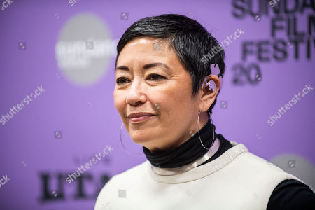 """Ane Crabtree attends the premiere of """"The Last Thing He Wanted"""" at the Eccles Theatre during the 2020 Sundance Film Festival, in Park City, Utah"""