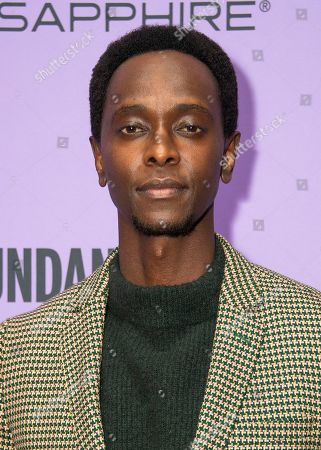 """Edi Gathegi attends the premiere of """"The Last Thing He Wanted,"""" at the Eccles Theatre during the 2020 Sundance Film Festival, in Park City, Utah"""