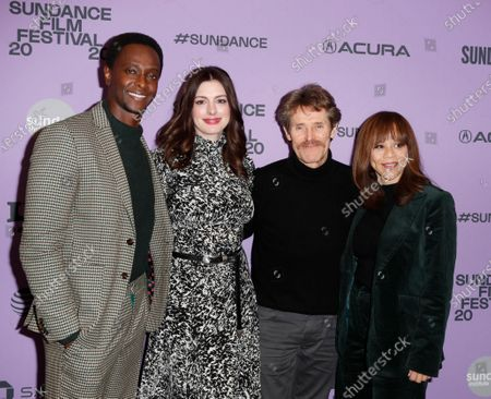 Edi Gathegi, Anne Hathaway, Willem Dafoe, and Rosie Perez arrive for the premiere of 'The Last Thing He Wanted' at the 2020 Sundance Film Festival in Park City, Utah, USA, 27 January 2020. The festival runs from 22 January to 02 February 2020.