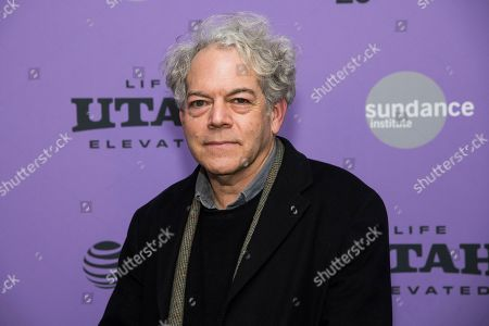 """Michael Almereyda attends the premiere of """"Tesla"""" at the Library Center Theatre during the 2020 Sundance Film Festival, in Park City, Utah"""