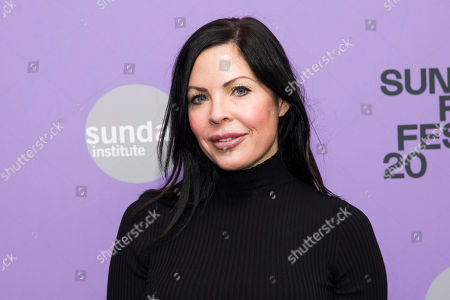 """Stock Picture of Christa Campbell attends the premiere of """"Tesla"""" at the Library Center Theatre during the 2020 Sundance Film Festival, in Park City, Utah"""