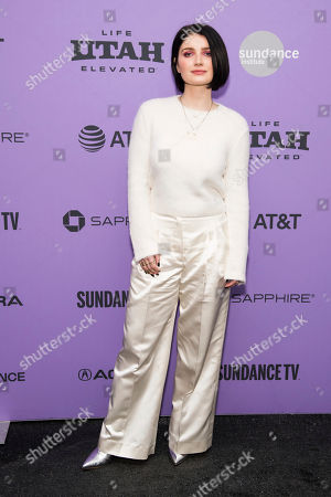 """Eve Hewson attends the premiere of """"Tesla"""" at the Library Center Theatre during the 2020 Sundance Film Festival, in Park City, Utah"""