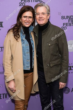 "Kyle MacLachlan, Desiree Gruber. Desiree Gruber and Kyle MacLachlan attend the premiere of ""Tesla"" at the Library Center Theatre during the 2020 Sundance Film Festival, in Park City, Utah"