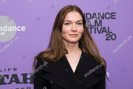 """Hannah Gross attends the premiere of """"Tesla"""" at the Library Center Theatre during the 2020 Sundance Film Festival, in Park City, Utah"""