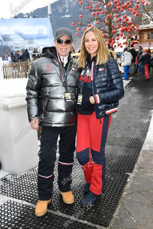 Tommy Hilfiger and Dee Ocleppo, 80th Hahnenkamm race, Streif, downhill