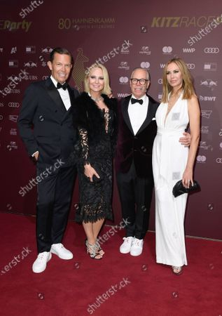 Tommy Hilfiger and Dee Ocleppo and Daniel Grieder and Sandra, CEO Modelabels Tommy Hilfiger Kitz Race Party, which took place on the evening of the men's downhill race on the Streif in the Kitz Race Club