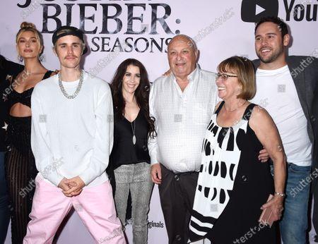 Hailey Bieber, Justin Bieber, Pattie Mallette, Bruce Dale