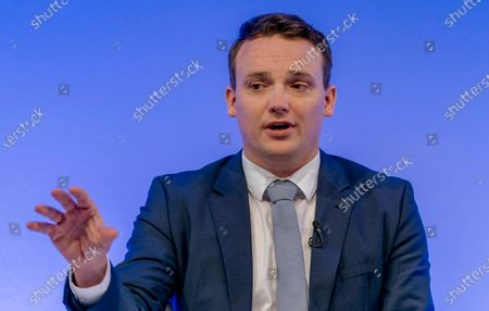 Stock Picture of Co-Chief Executive Officer (CEO) of SAP SE, Christian Klein speaks during a press conference in Walldorf, Germany, 28 January 2020. Software producer SAP SE released their preliminary business figures for the fourth quarter Q4 and the full year 2019.