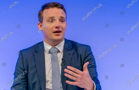 Stock Photo of Co-Chief Executive Officer (CEO) of SAP SE, Christian Klein speaks during a press conference in Walldorf, Germany, 28 January 2020. Software producer SAP SE released their preliminary business figures for the fourth quarter Q4 and the full year 2019.