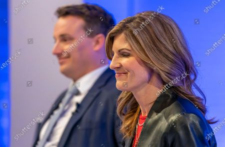 Co-Chief Executive Officers (CEO) of SAP SE, Christian Klein (L) and Jennifer Morgan (R) attend a press conference in Walldorf, Germany, 28 January 2020. Software producer SAP SE released their preliminary business figures for the fourth quarter Q4 and the full year 2019.