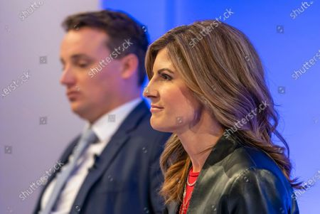 Stock Image of Co-Chief Executive Officers (CEO) of SAP SE, Christian Klein (L) and Jennifer Morgan (R) attend a press conference in Walldorf, Germany, 28 January 2020. Software producer SAP SE released their preliminary business figures for the fourth quarter Q4 and the full year 2019.