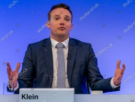 Co-Chief Executive Officer (CEO) of SAP SE, Christian Klein speaks during a press conference in Walldorf, Germany, 28 January 2020. Software producer SAP SE released their preliminary business figures for the fourth quarter Q4 and the full year 2019.
