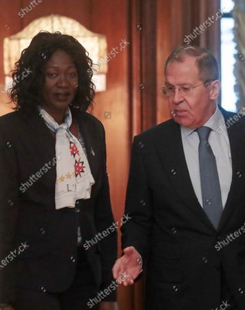 Editorial image of South Sudan Foreign Minister Awut Deng Acui in Moscow, Russian Federation - 28 Jan 2020