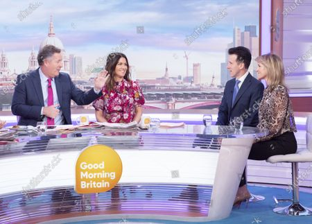 Stock Photo of Piers Morgan, Susanna Reid, Anton Du Beke and Erin Boag