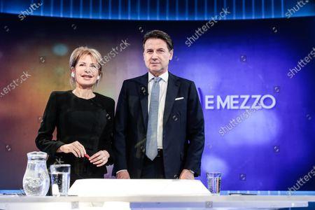 Lilli Gruber, Italian Prime Minister Giuseppe Conte