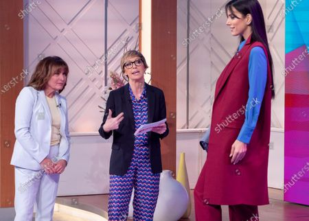 Lorraine Kelly and Jo Elvin with model