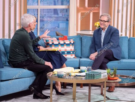 Phillip Schofield and Holly Willoughby with Robert Bathurst