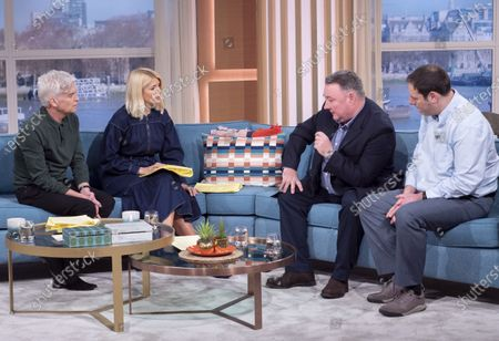 Phillip Schofield and Holly Willoughby with James Hull and Professor Daniel Davies