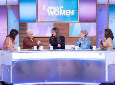 Andrea McLean, Denise Welch, Caitlyn Jenner, Gloria Hunniford and Kelle Bryan