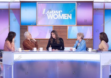 Stock Picture of Andrea McLean, Denise Welch, Caitlyn Jenner, Gloria Hunniford and Kelle Bryan