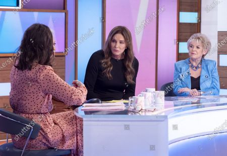 Stock Photo of Andrea McLean, Denise Welch, Caitlyn Jenner