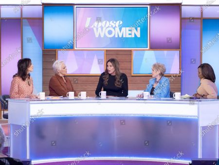 Stock Image of Andrea McLean, Denise Welch, Caitlyn Jenner, Gloria Hunniford and Kelle Bryan