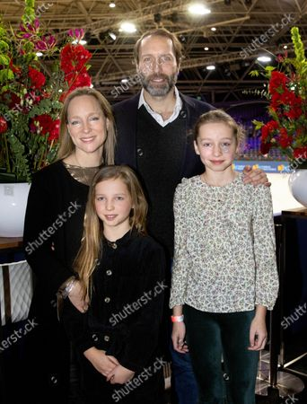 Princess Margarita Maria Beatriz of Bourbon-Parma and Tjalling ten Cate and their daughters Julia and Paola