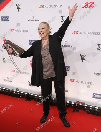 German actress Barbara Schoene arrives for the B.Z. Culture Award ceremony in Berlin, Germany, 28 January 2020. Since 1991, the Berlin tabloid newspaper B.Z. awards this annual prize to personalities that contributed to the cultural and artistic diversity in the German capital.