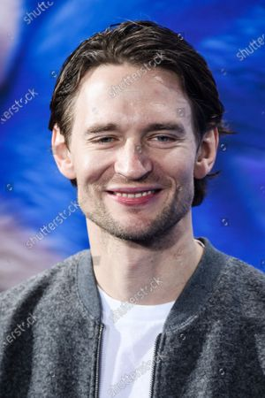 August Wittgenstein poses on the blue carpet of the 'Sonic the Hedgehog' fan screening in Berlin, Germany, 28 January 2020. The movie screens in German cinemas from 13 February 2020.