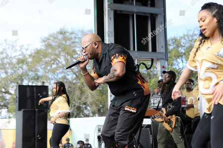 Stock Picture of Flo Rida performs before the NFL Pro Bowl football game, in Orlando, Fla
