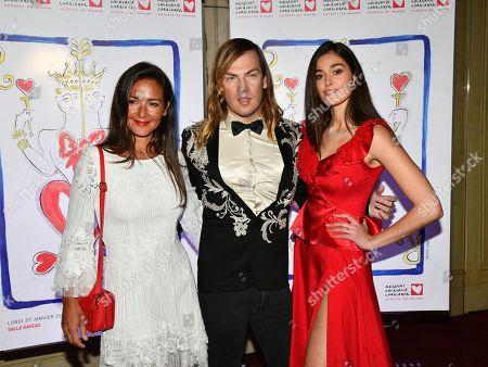 Emmanuelle Boidron, Christophe Guillarme and actress Lison di Martino