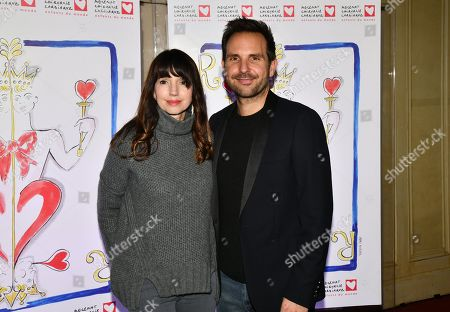 Stock Photo of Delphine McCarty and husband Christophe Michalak