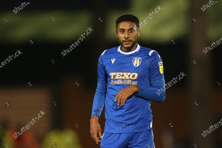 Brandon Comley of Colchester United during Colchester United vs Swindon Town, Sky Bet EFL League 2 Football at the JobServe Community Stadium on 28th January 2020