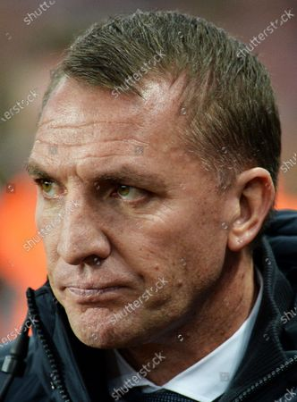 Leicester City manager Brendan Rogers before the Carabao Cup semi final second leg match between Aston Villa and Leicester City in Birmingham, Britain, 28 January 2020.