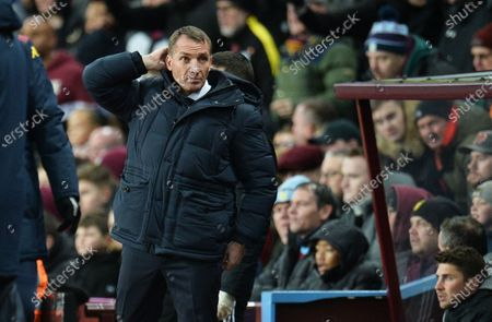 Leicester manager Brendan Rogers during the Carabao Cup semi final second leg match between Aston Villa and Leicester City in Birmingham, Britain, 28 January 2020.